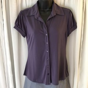 BNWOT Purple button down shirt.